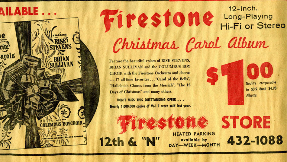 part of the full page firestone advertisement in the lincoln sunday journal and star november 24 1963